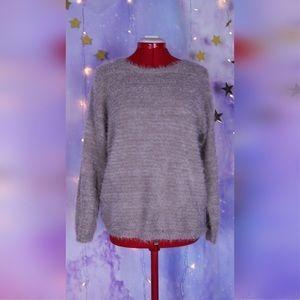 NEW Light tan or khaki fuzzy soft sweater